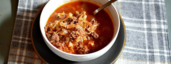 """Easy """"Unstuffed Cabbage"""" Soup"""